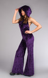 SALE: Royal Purple Crush Velvet Mystique Onesie - Warrior Within Designs ,Onesie