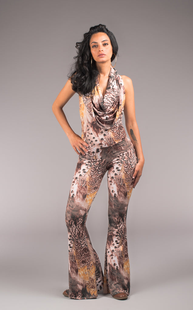 Autumn Feather Firebird Slim Bell Onesie
