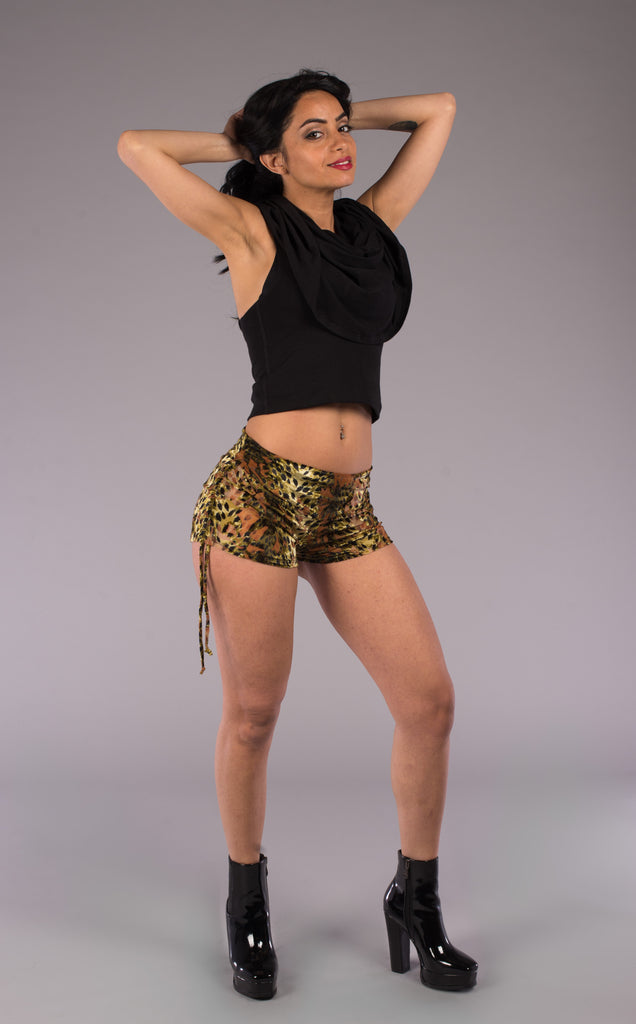 HALF PRICE: Faerie Burnout Velvet Cowgirl Shorts - Warrior Within Designs ,Shorts