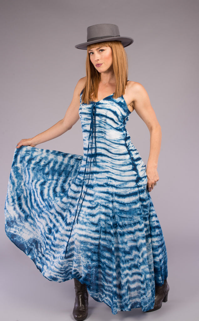 Shibori Indigo Zingara Dress
