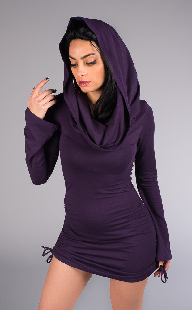 Purple Bamboo Sleeved Huntress Cinch Dress - Warrior Within Designs ,Dress