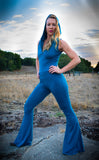Teal Bamboo Katana Jumpsuit - Warrior Within Designs ,Onesie