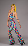 Tie Dye Roses Panther Onesie - Jammin Warrior Collective - Warrior Within Designs ,Jumpsuit