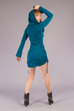 Teal Bamboo Sleeved Huntress Cinch Dress - Warrior Within Designs ,Dress
