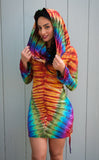 Tie Dye Long Sleeved Huntress Cinch Dress -XS ONLY