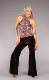 Dark Chocolate Velvet Flow Pants - Warrior Within Designs ,Pants