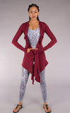 Maroon Bamboo Waterfall Cardigan - Warrior Within Designs ,Onesie