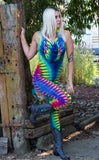 Tie Dye Huntress Ladyhawke Onesie - Warrior Within Designs ,Tie Dye