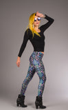 Cyan Liquid Light Ladyhawke Leggings - Jammin Warrior Collective - Warrior Within Designs ,Leggings