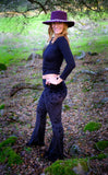 Black Velvet Slim Bells - Warrior Within Designs ,Pants