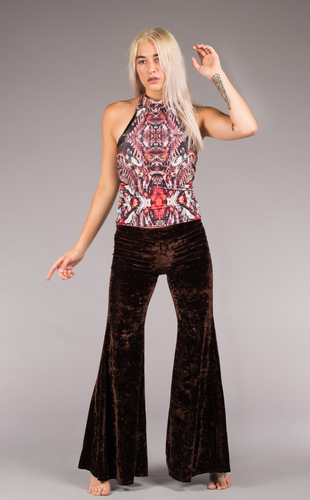 Forest Feather Velvet Calista Top - Warrior Within Designs ,Top