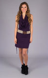 Purple Bamboo Huntress Cinch Dress - Warrior Within Designs ,Dress
