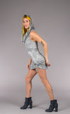 Shibori Suede Huntress Cinch Dress - Warrior Within Designs ,Dress