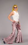 Dusty Rose Velvet Flow Pants
