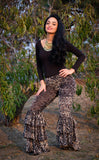 Metallic Lotus Burnout Velvet Pirate Pants