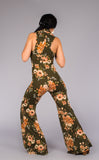 Green Flower Huntress Flow Pant Onesie - Warrior Within Designs ,Onesie