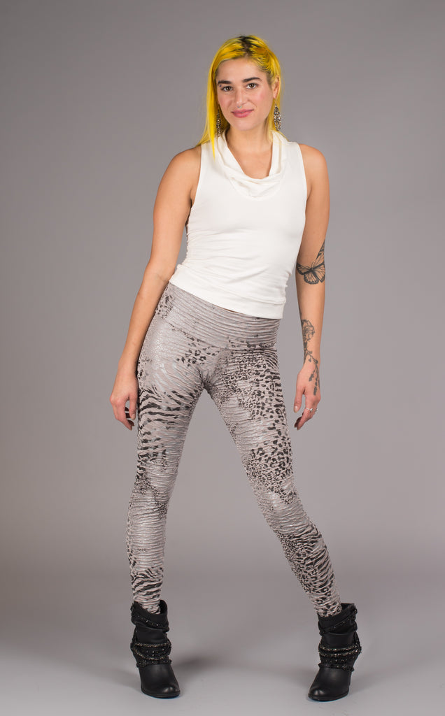 Cheetah Ruched Ladyhawke Leggings - Warrior Within Designs ,Pants