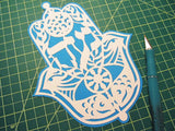hamsa noa hebrew name hebrica jewish papercut art
