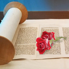 "Why roses on Shavuot? It's a Hebrew thing. From the Hebrica ""Snippets"" blog."