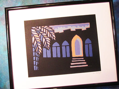 Z - Jerusalem at Night - Jewish Paper Cut