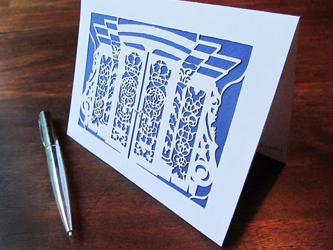 Synagogue Art Cards - CUSTOM ORDER - Jewish Papercut Art