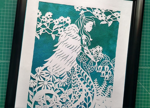 Abbo's Angel - Sewanee Papercut Art