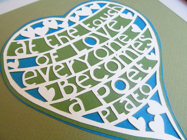 At the Touch of Love - Paper Cut Art