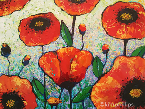 Big Red Poppies - Acrylic Painting