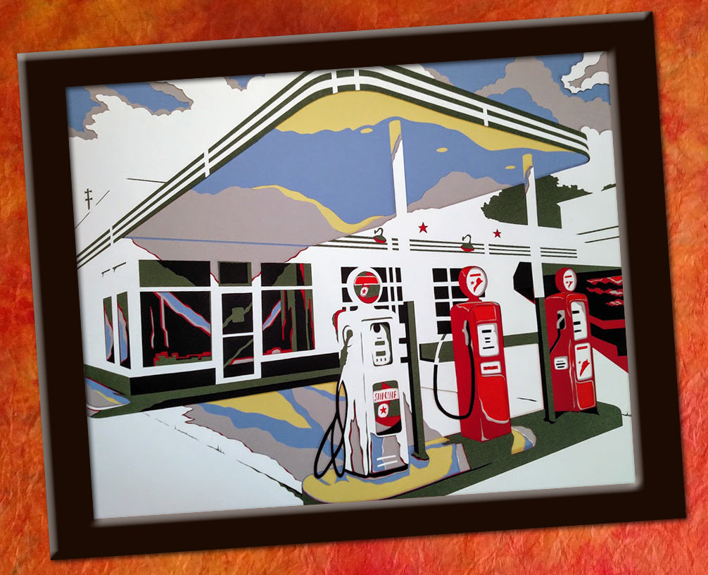 Fill 'Er Up - Original Paper Cut Art