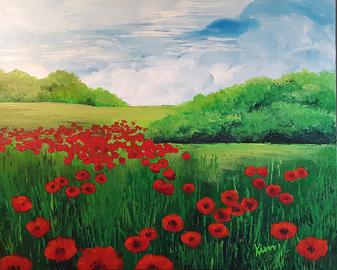 Field of Poppies No. 1