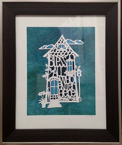 House Blessing - Paper Cut Art