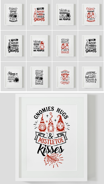 Chrstmas Gnomes Printable Wall Art {40 Pages}