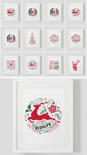 Reindeer Christmas Bundle {40 Pages}