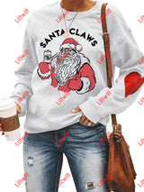 Santa Claws Love Sweatshirt White / S