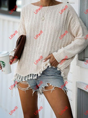 Loose Stitching Knitted Sweater