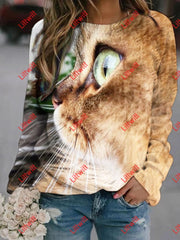 Creative Cat Printed Sweatshirt