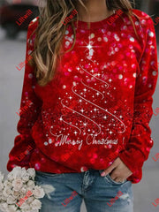 Womens Merry Christmas Sweatshirt