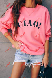 Flamingo Ciao Long Sleeve Pullover Top