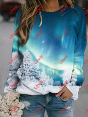 Aurora Wish Printed Sweatshirt
