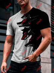 Mens Wolf Gang Art Print Round Neck T-Shirt As Pic / S