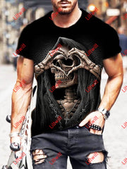 Skull Series Men And Women Casual T-Shirt As Pic / S