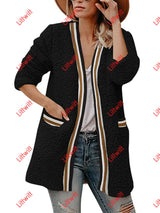 Winter Plush Long Coat Black / S