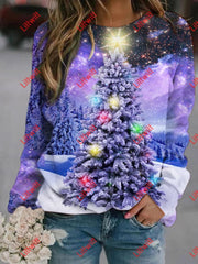 Star Xmas Printed Sweatshirt