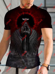 Mens Dark Angel Sky Eye Art Print T-Shirt As Pic / S