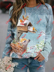 Winter Fluffy Christmas Sweatshirt