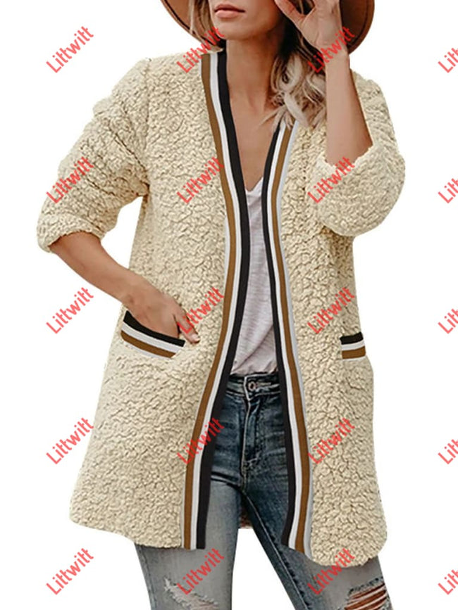 Winter Plush Long Coat Beige / S
