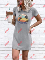 Beer Me Letters Printed Shift Dresses