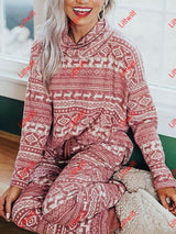 Christmas Reindeer Printed Casual Suit