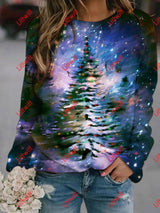 Merry Christmas Printed Sweatshirt As Pic / S