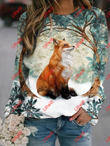 Foxy By Hidden Printed Sweatshirt As Pic / S